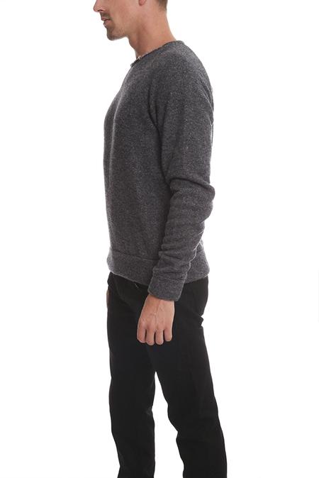 V::Room Long Sleeve Fleece Crewneck Sweater - Grey