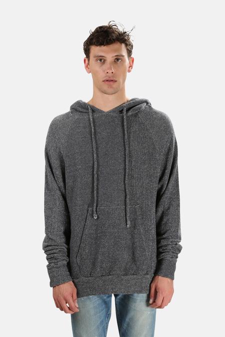 V::Room Melange Fleece Hoodie Sweater - Charcoal