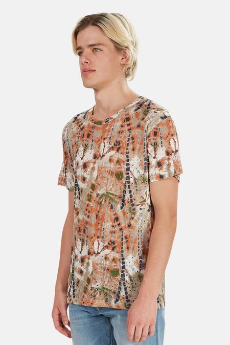 IRO Alessio Valentino Graphic T-Shirt - Green/Orange