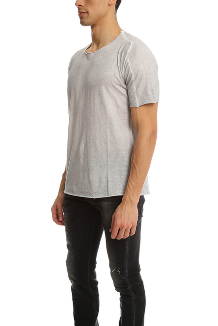 Hannes Roether Fabel Raw Crew Tee - Grey