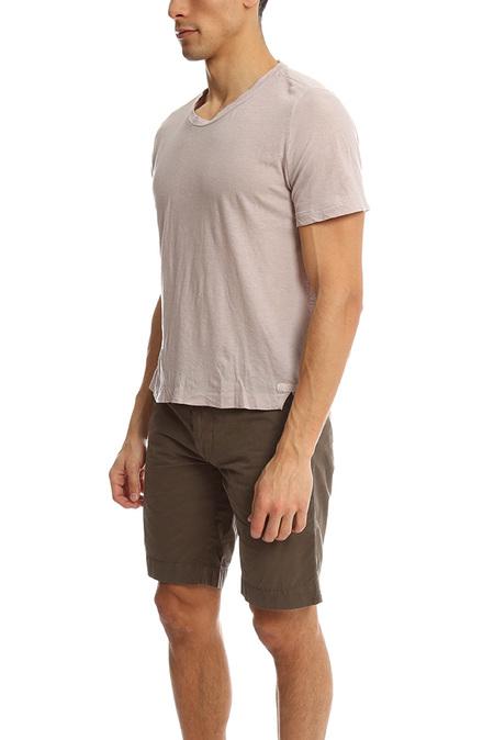 V::Room Gauze Twist Classic Tee Shirt - Charcoal