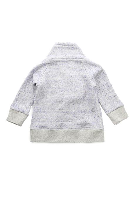 Kids Blue&Cream Shawl Neck Situation Sweatshirt - Lavender