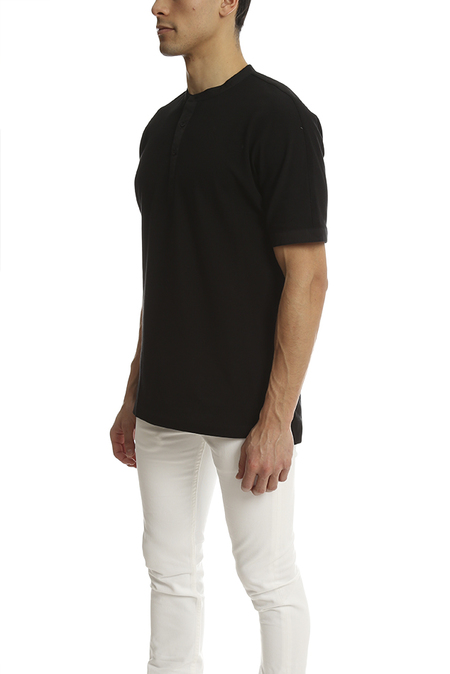 Helmut Lang Uni Sleeve Polo - Black