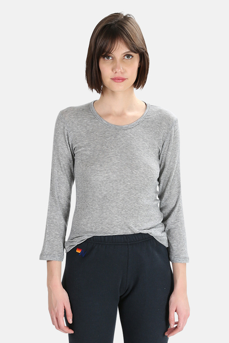 V::Room Tencel Jersey LS Top - Grey
