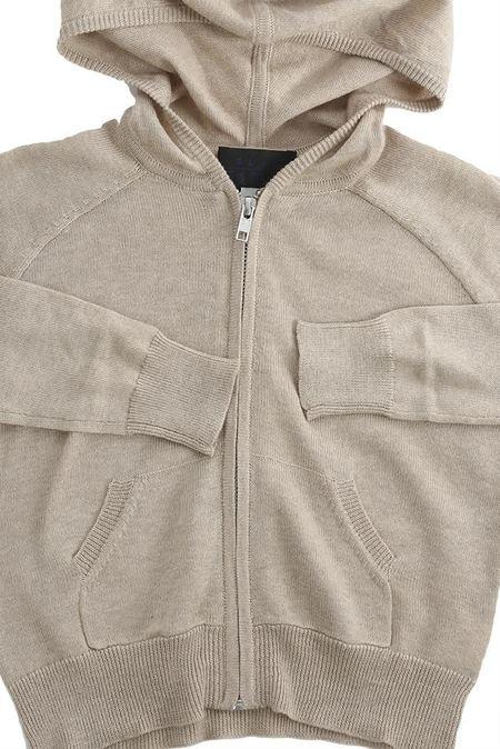 kids Blue&cream Autumn Cashmere Zip Hoody Sweater - Natural