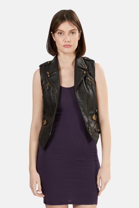 Alexander Wang Belted Leather Vest - Black