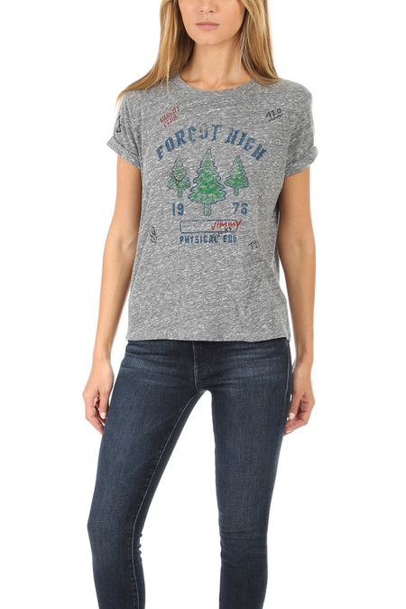 Mother Denim The Oversized Goodie Goodie Tee - Forest High