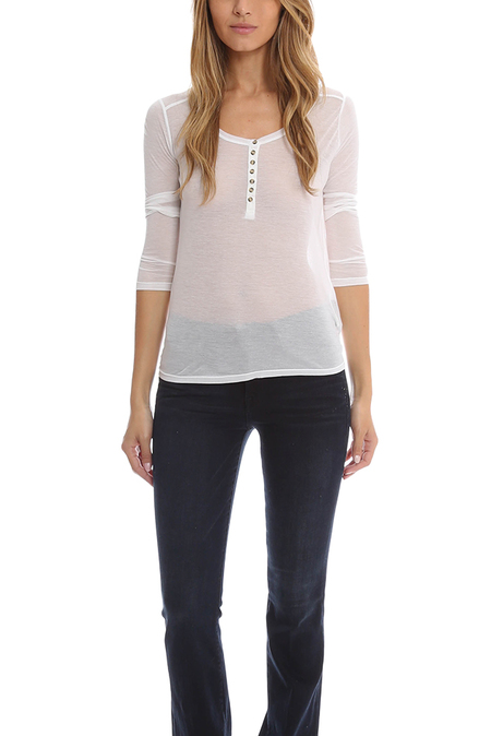 T by Alexander Wang Long Sleeve T-Shirt - White