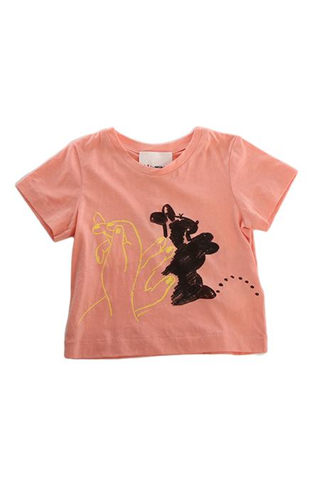 kids unisex 3.1 Phillip Lim Kids Bunny Puppet Muscle T-Shirt - melon