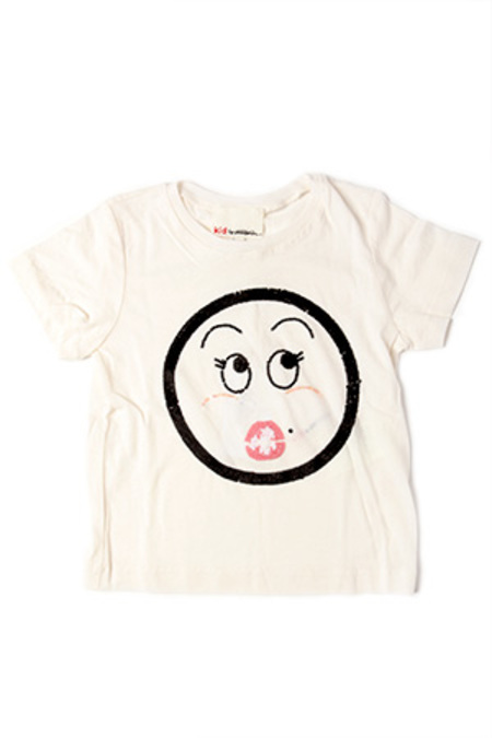 Kids 3.1 Phillip Lim SS Sequin Oops Face T in Top - Off White