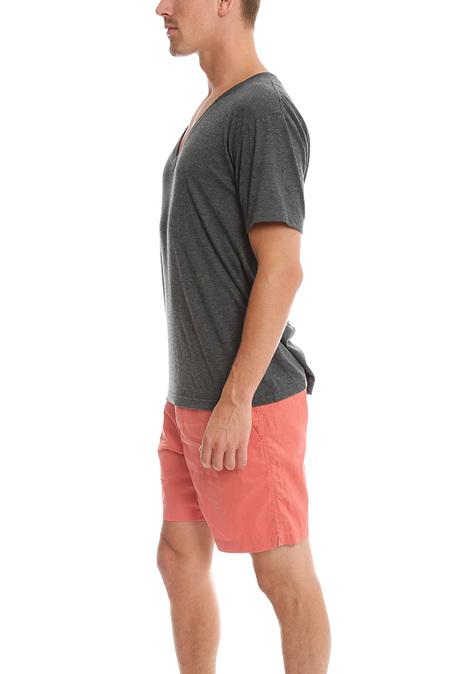 BLK DNM Vneck Tee Shirt - Grey