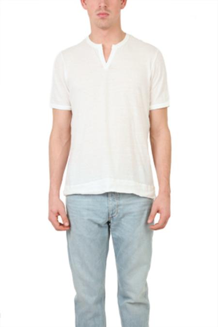 V::ROOM Melange Slit Tee Shirt - Natural