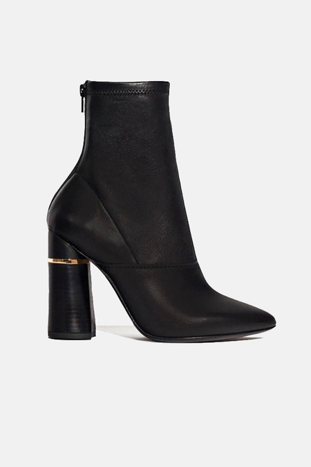 3.1 Phillip Lim Kyoto Stretch Leather Boot Shoes - Black