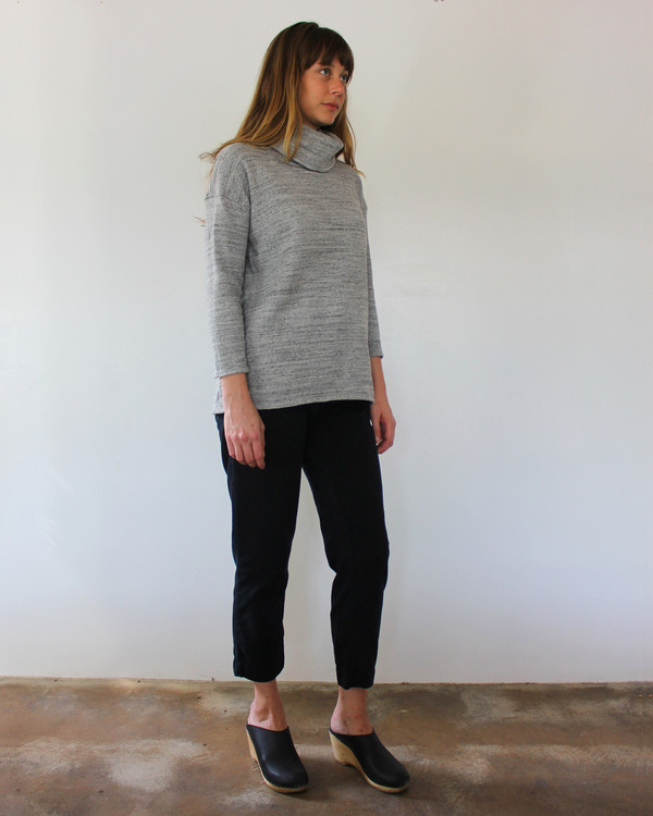 Esby ST. ANN TURTLENECK - HEATHER GREY