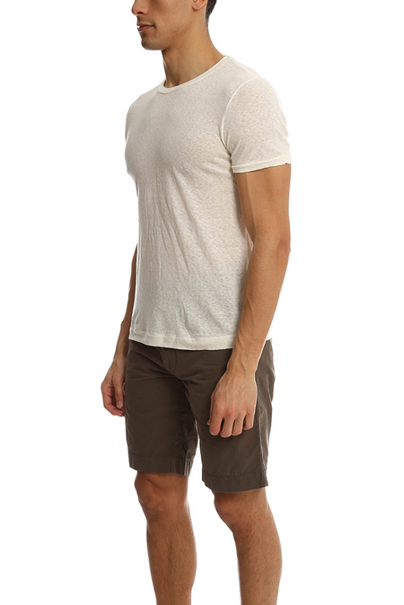 V::Room Linen Jersey Crewneck T-Shirt - Natural