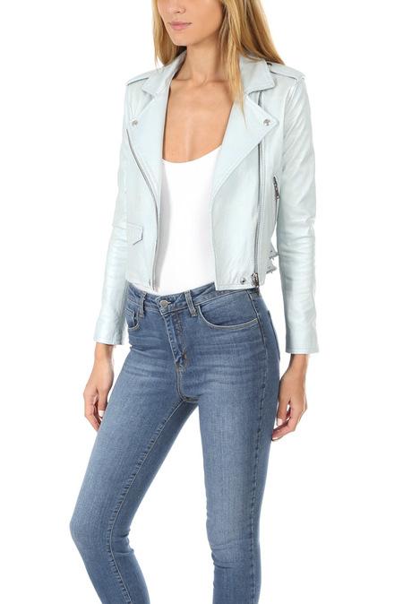 IRO Ashville Leather Jacket - Azure Blue
