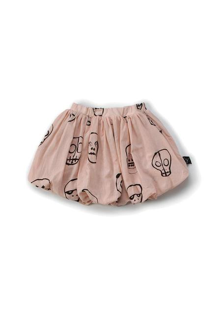 Kids Nununu Skull Mask Balloon Skirt - Pink