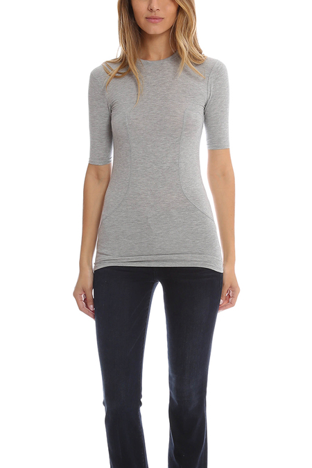 T by Alexander Wang Stretch Top - Heather Grey