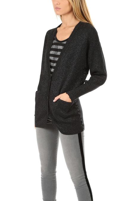 RtA Oneil Cardigan Sweater - Ring Anthracite