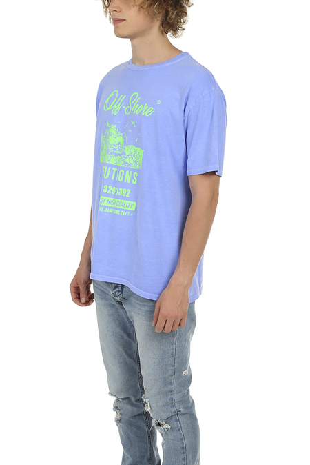 Blue&Cream Off Shore Solutions T-Shirt - Periwinkle
