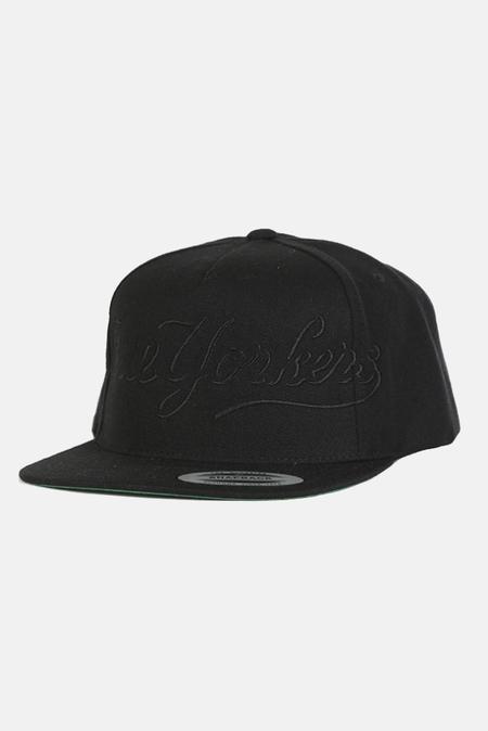 Blue&Cream True Yorker Snapback Hat - Black/Black