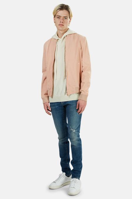 PRESIDENTS Suede Bomber Jacket - Pink
