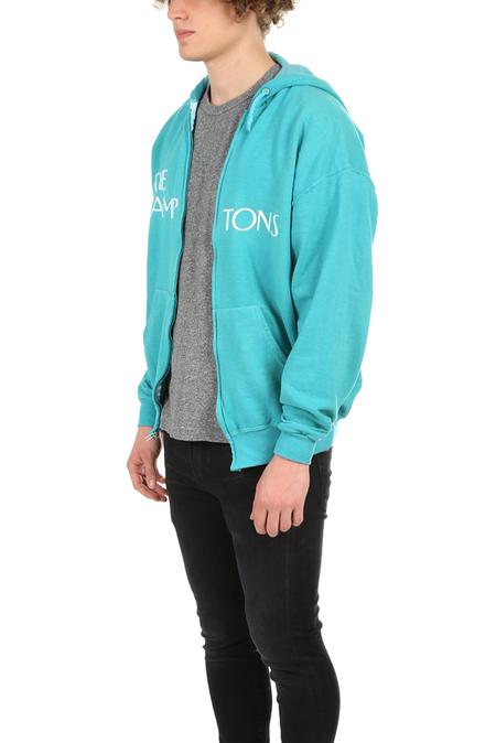 Blue&Cream Lamptons Hoodie Sweater - teal/white