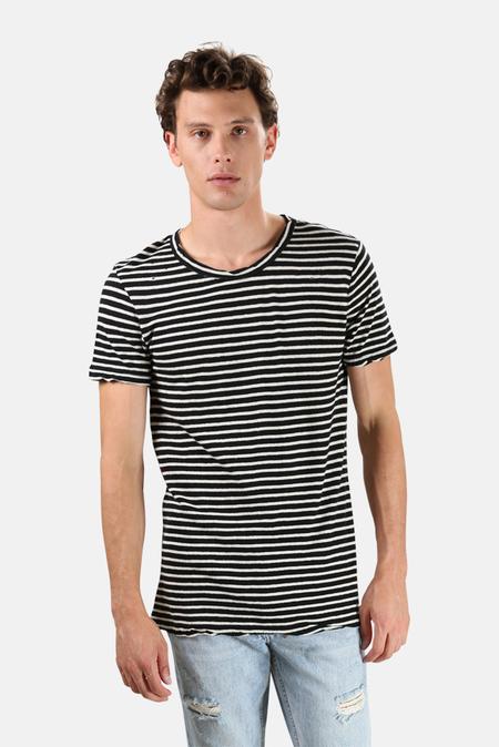 Ksubi Sinister T-Shirt - black/White stripe