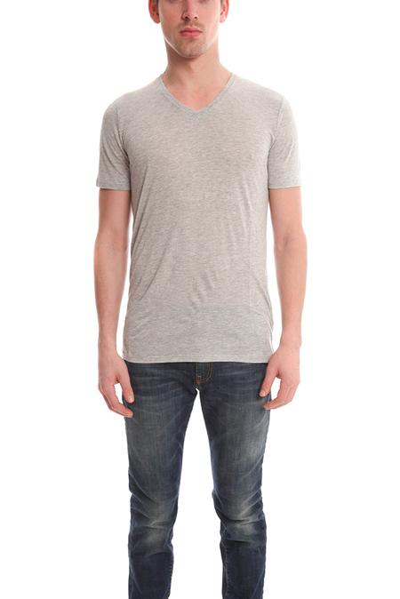 ATM V Neck T-Shirt - Heather Grey