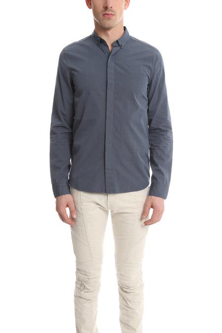 Pierre Balmain Button Down Shirt - Denim Blue
