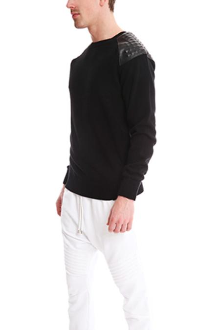 Pierre Balmain Zip Detail Studded Sweater - Black
