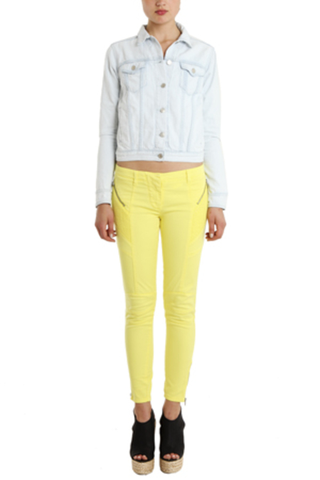 Pierre Balmain Moto Jeans - Yellow