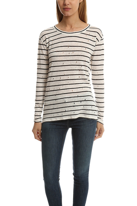 IRO Sepia T-Shirt - Ecru/Black