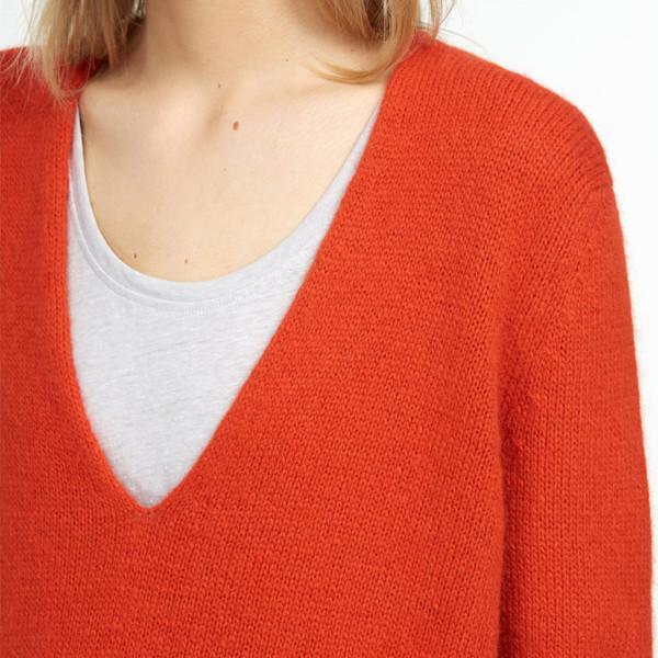 closed v-neck sweater