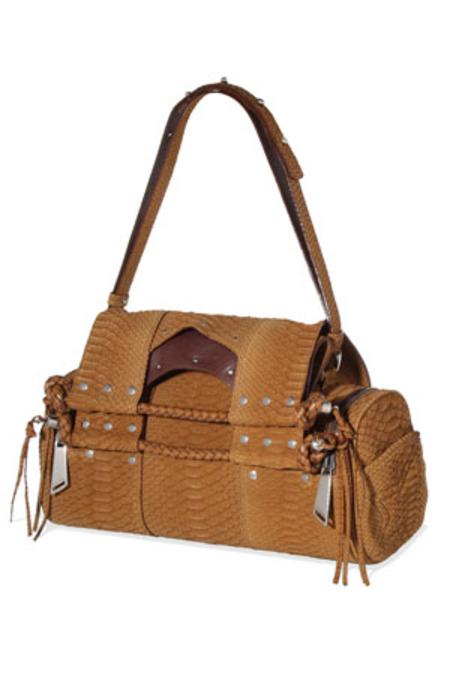 Corto Moltedo Priscilla Python Bag - Warner Brown