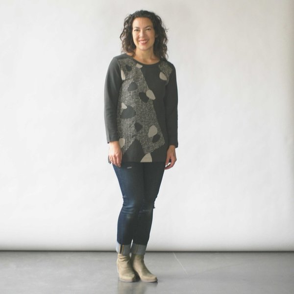 Make It Good Composition #1 Tunic in Smoke