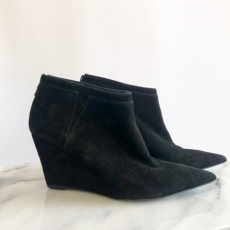 [Pre-loved] Narciso Rodriguez Suede Ankle Boots - Black