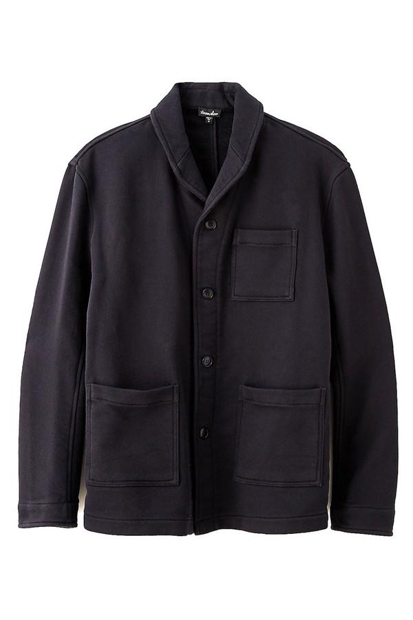 Men's Steven Alan - Jerome Sweatshirt Jacket-Blk
