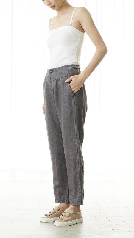 Pas de Calais Classic Linen Pant - Grey