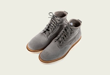 Viberg Calf Suede Scout Boot - Storm
