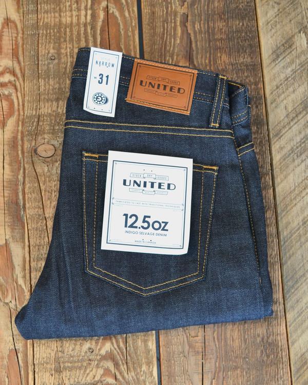 Narrow Raw Indigo Jeans