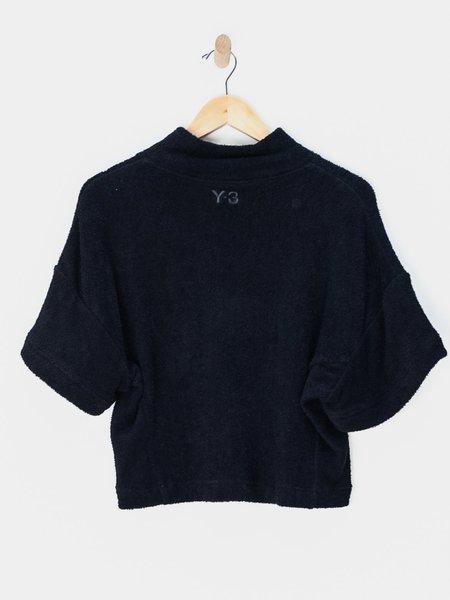 Y-3 Quarter Zip Top- Black