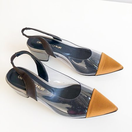 [Pre-loved] Creatures of Comfort PVC Heels - Grey/Yellow