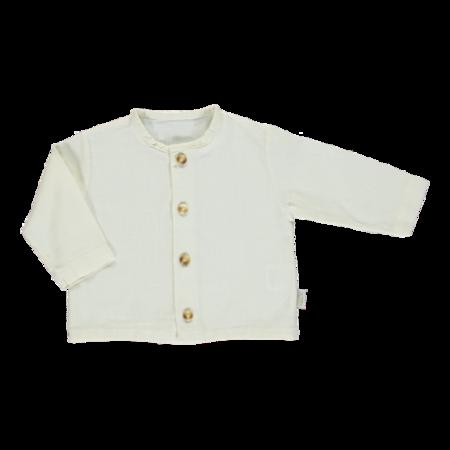Kids Poudre Organic Buttondown Shirt - Almond Milk