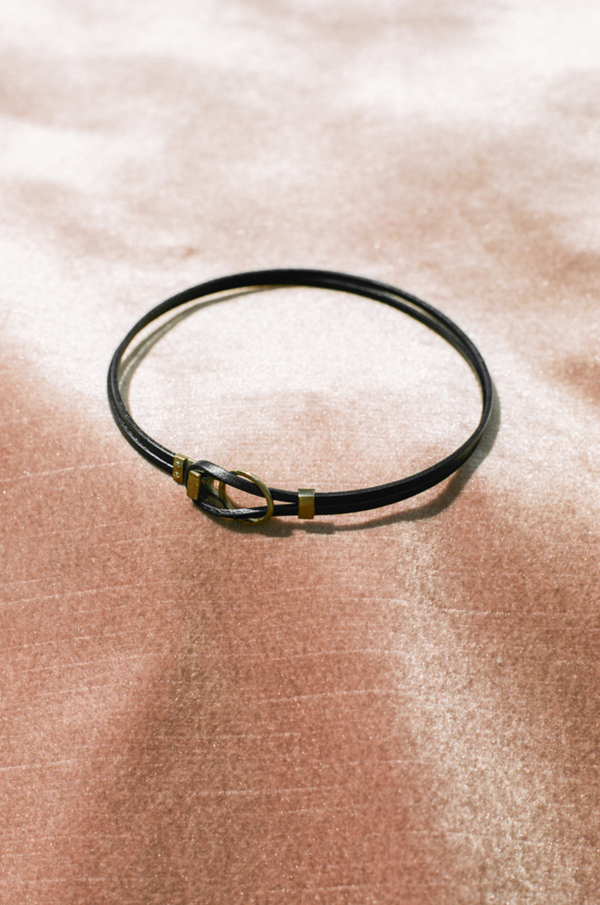 Open House El Nudo Choker - leather/bronze