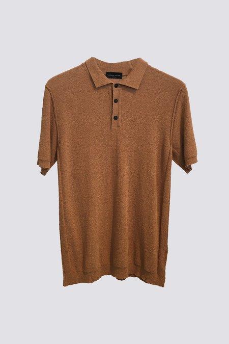 Roberto Collina Brown Knit Polo - Brown