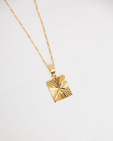 Tumble  Starburst Necklace - 14k gold filled