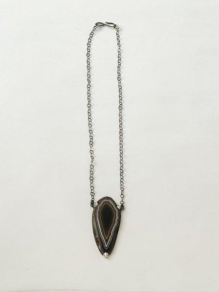 Terri Logan Sliced Geode Necklace