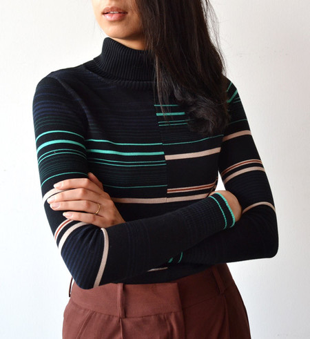 Apiece Apart Rancho Stripe Piedras Turtleneck Top