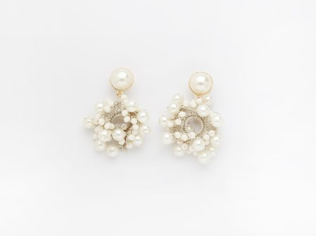Valet Studio Bella Earrings - White